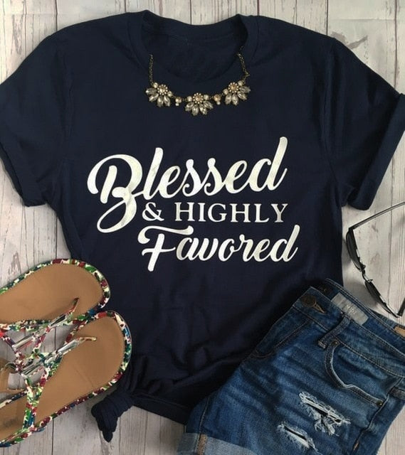 ABIDE Blessed and Highly Favored Women's Tees