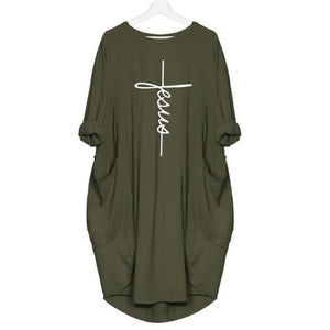 2020 Abide Oversized Jesus Tee with Pocket