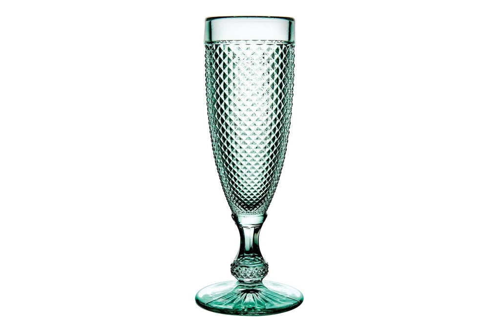 Bicos - Champagne Flutes (Set of 4) - Green