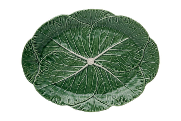 Cabbage Oval Platter - Green