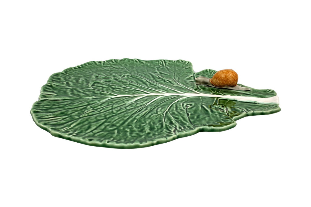 Cabbage Leaf With Snail - Green