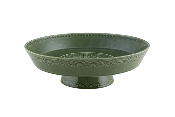 Rua Nova Footed Fruit Bowl - Green