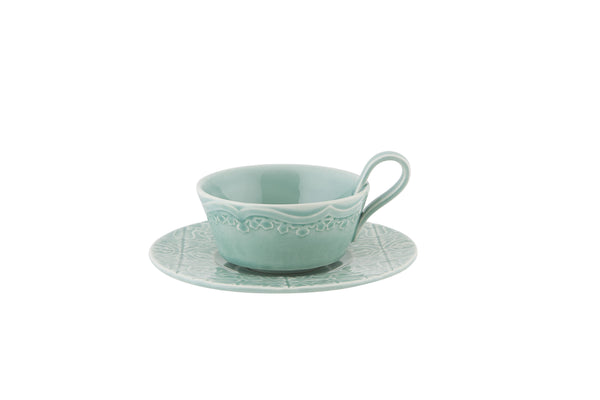 Rua Nova Tea Cup & Saucer - Morning Blue