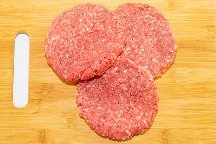 grass fed hamburger patties from arrowhead beef