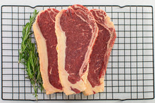 grass fed grass finished new york strip from arrowhead beef