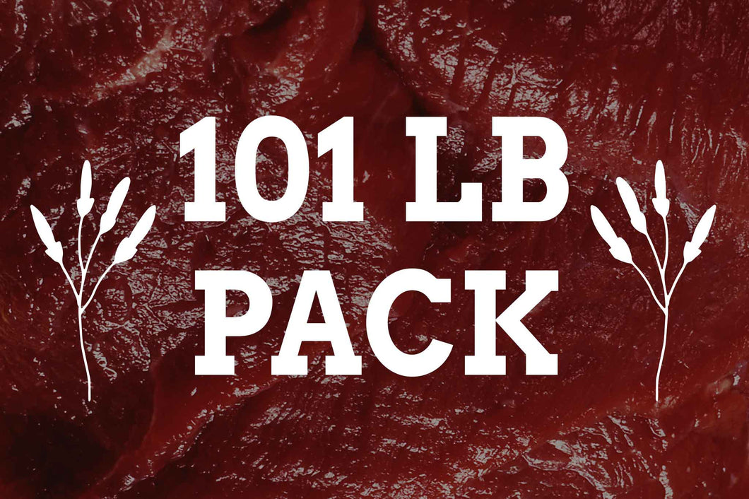101 lbs of organic beef from arrowhead beef