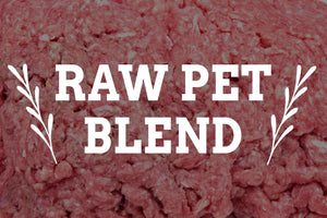 raw pet blend from arrowhead beef