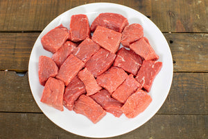 grass fed stew meat from arrowhead beef