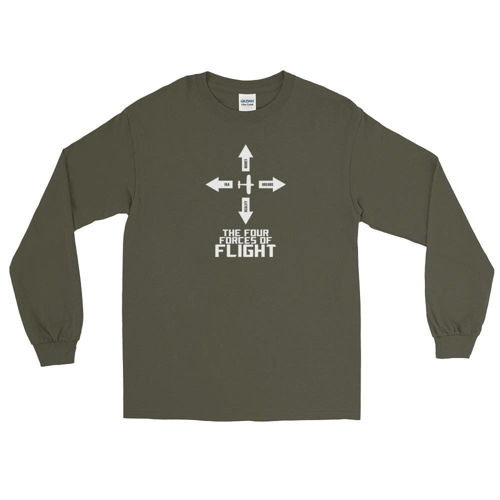 Four Forces Of Flight Ls Shirt - Military Green / S