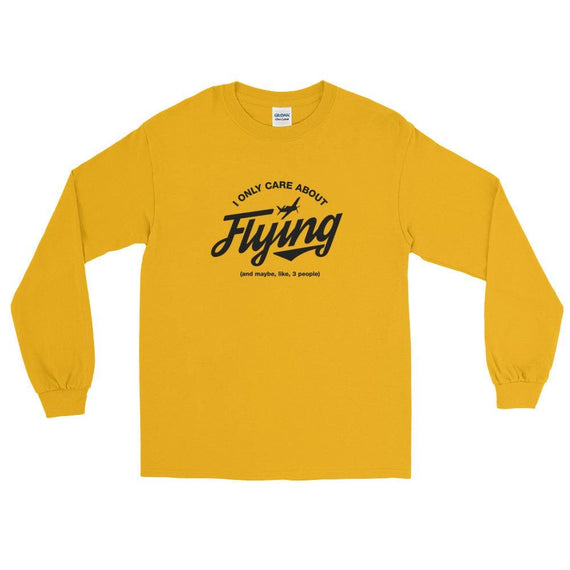 I Only Care About Flying Ls T-Shirt - Gold / S