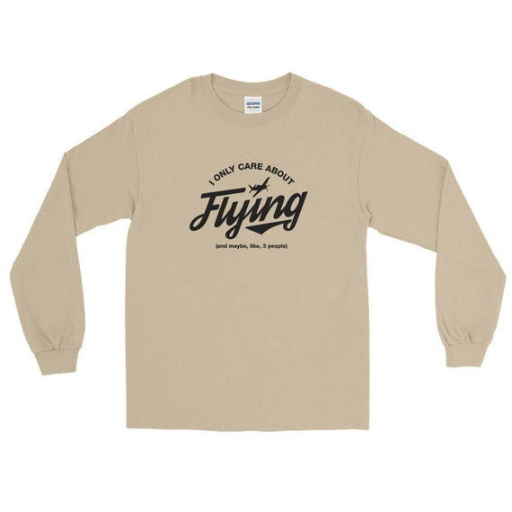 I Only Care About Flying Ls T-Shirt - Sand / S