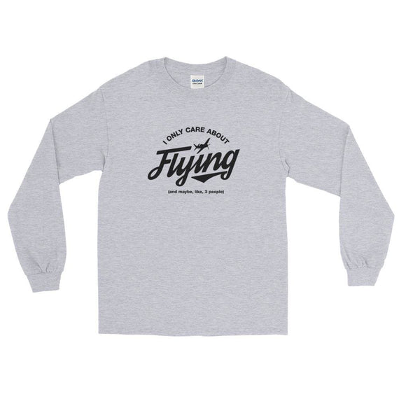I Only Care About Flying Ls T-Shirt - Sport Grey / S