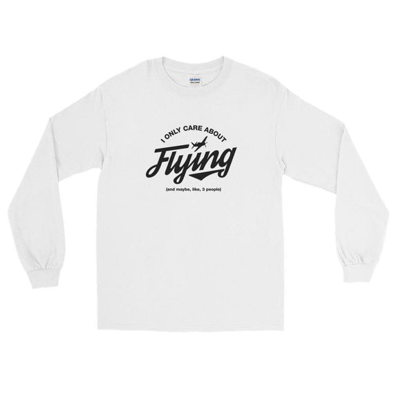 I Only Care About Flying Ls T-Shirt - White / S