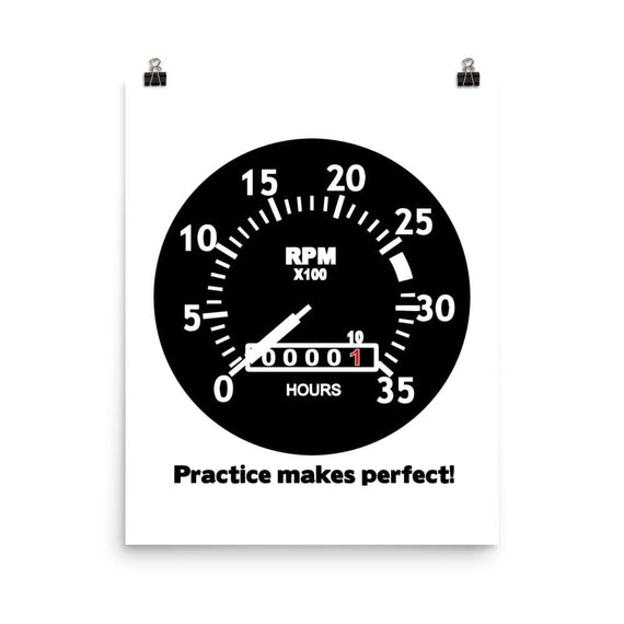 Practice Makes Perfect - 16×20