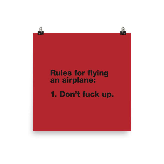 Rules For Flying - 14×14