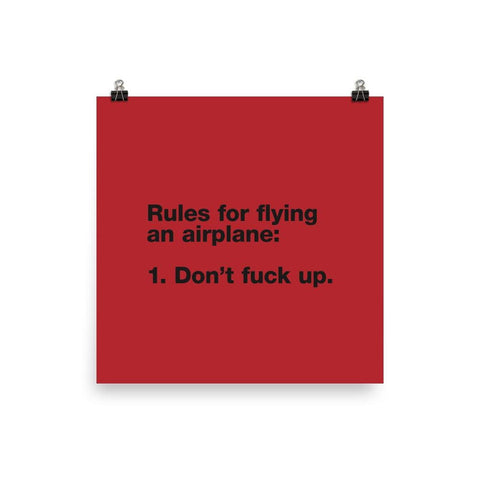Rules for Flying