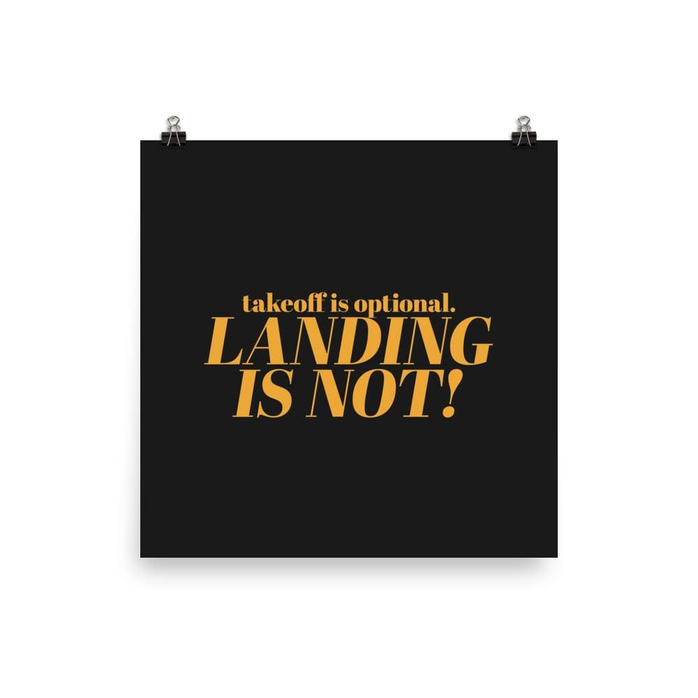 Takeoff And Landing Advice - 18×18
