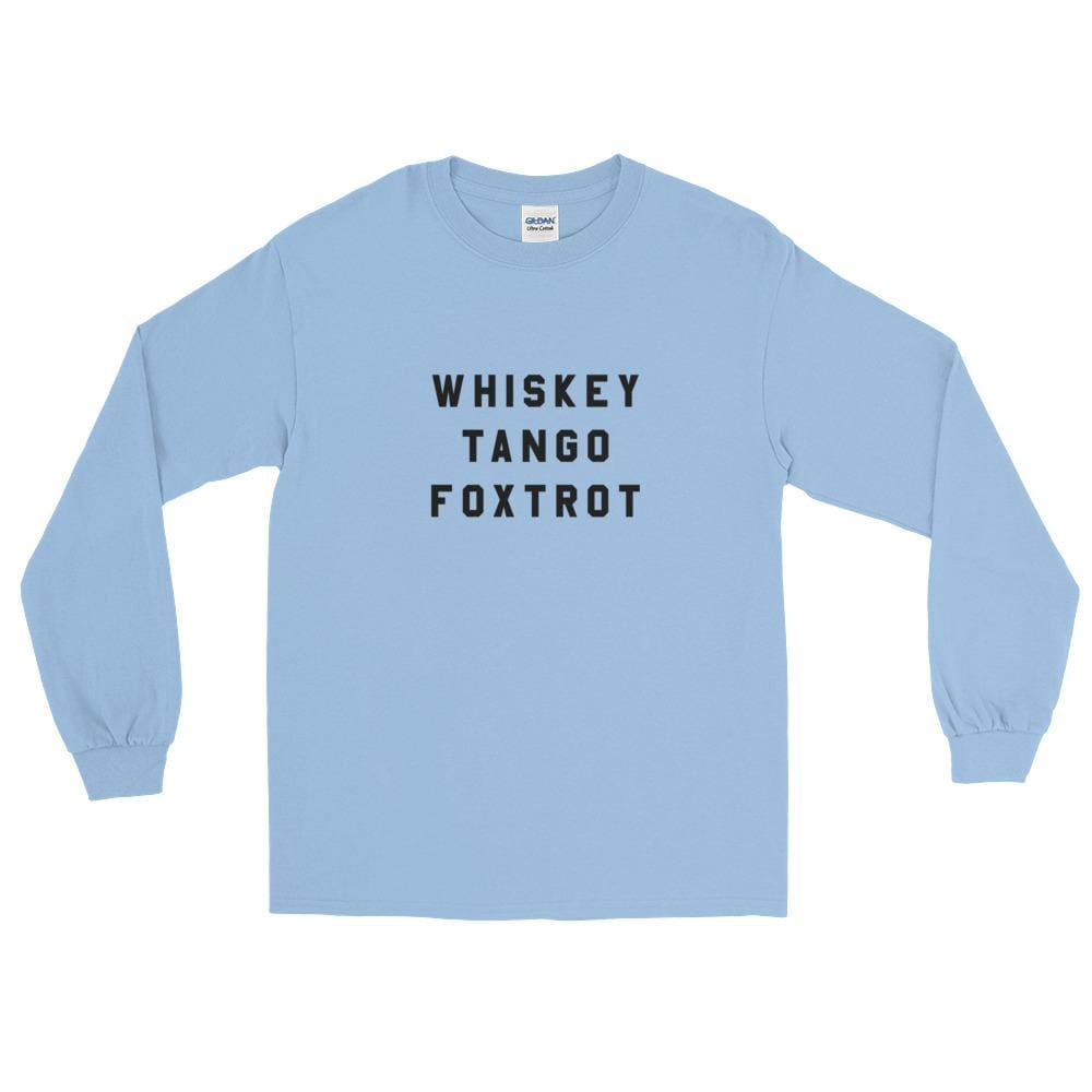 Wtf Ls T-Shirt - Light Blue / S