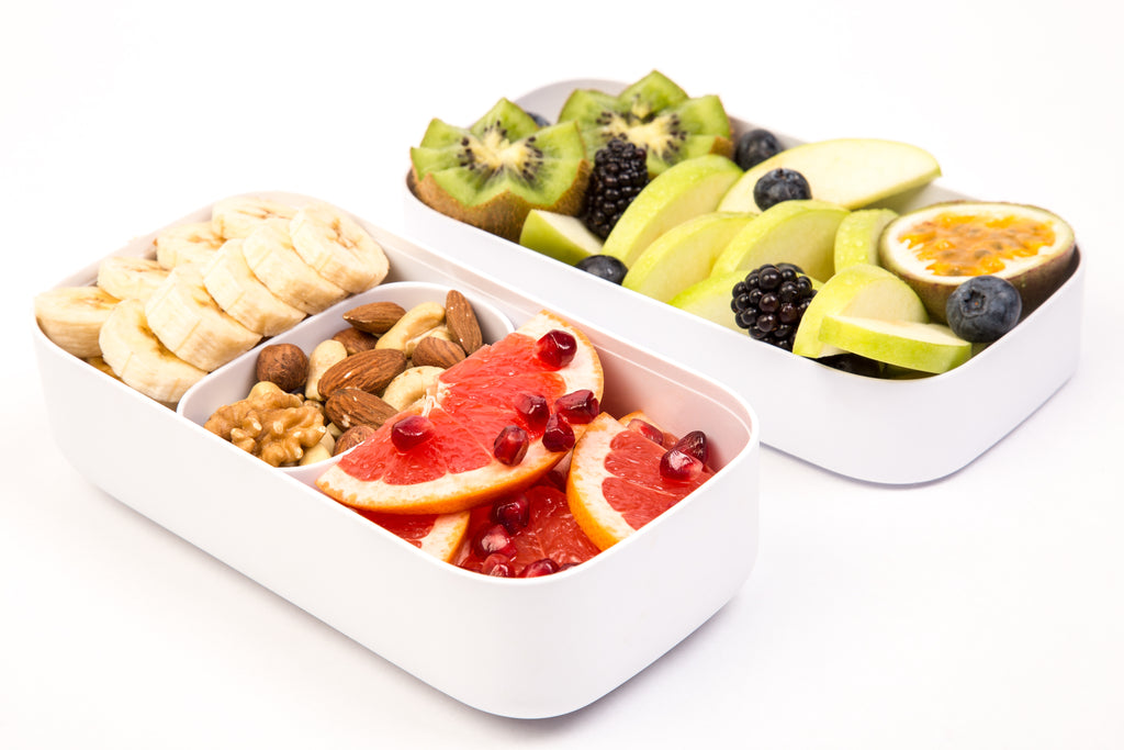 Karma bento lunch box with healthy fruits
