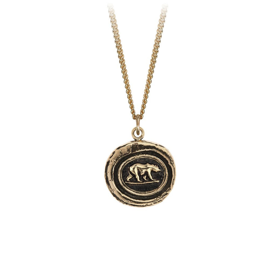 "Pyrrha 14K Gold Signature Talisman ""Mother Bear"""