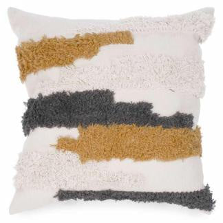 Attitudes Cushion Grey & Mustard