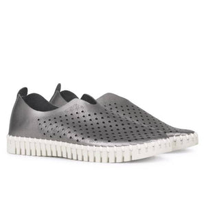 Ilse Jacobsen Tulip Shoe Metallic Gunmetal