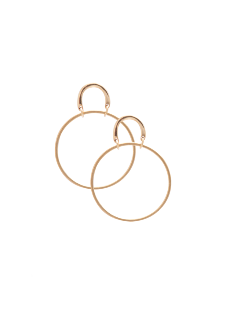 Sarah Mulder Small Henny Hoop Gold