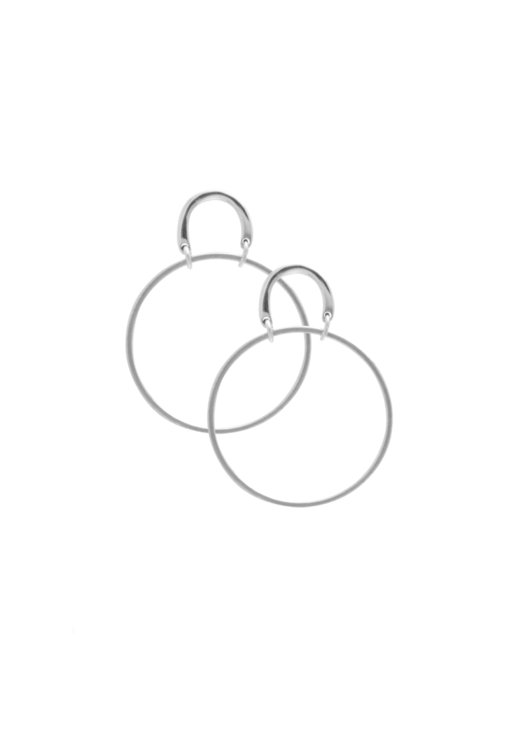 Sarah Mulder Small Henny Hoop Silver