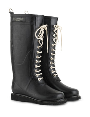 Ilse Jacobsen Black Rain Boot