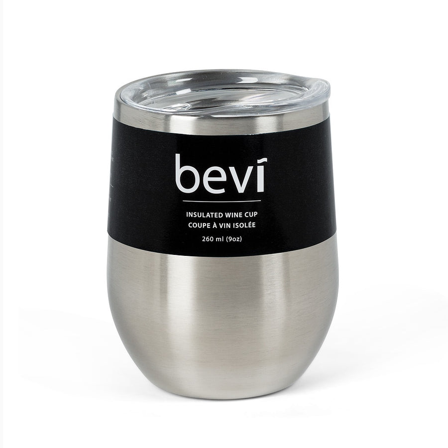Bevi Insulated Wine Tumbler Silver