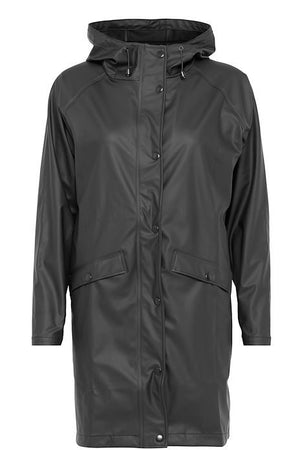 Ichi Tazi Raincoat Black