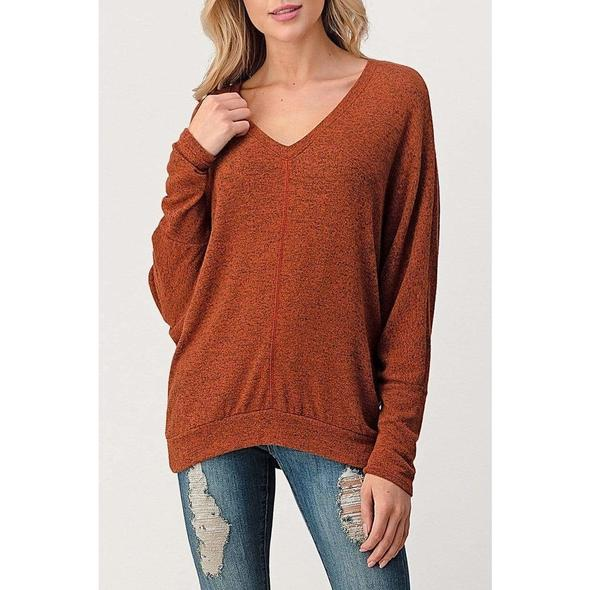 Natural Life Dolman Sleeve Top Rust