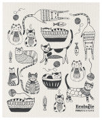 Danica Swedish Dishcloth Purr Party