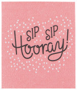 Danica Swedish Dishcloth Sip Sip Hooray