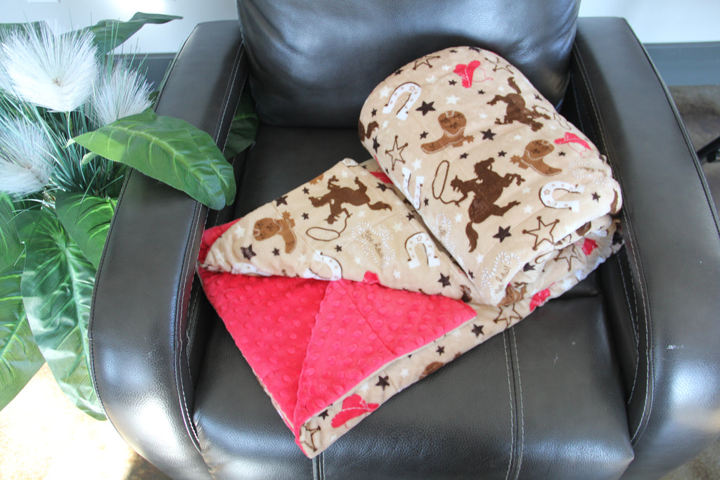 Western Minky Weighted Blanket