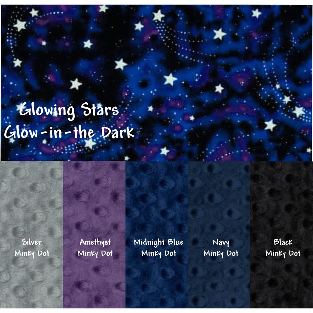 Minky & Cotton Weighted Blanket 5-12 LBS Travel Size Glowing Stars
