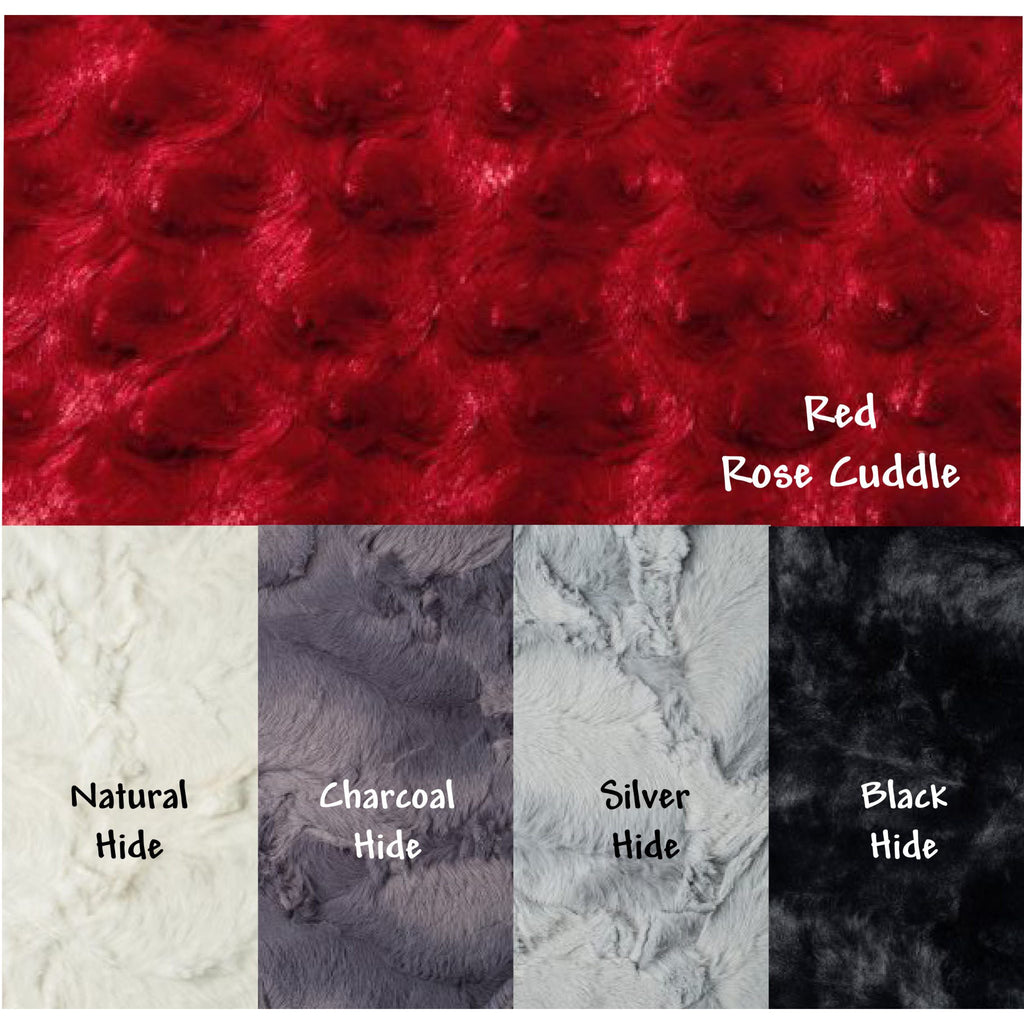 Minky Weighted Blanket 2-6 LBS X-Small Youth Red