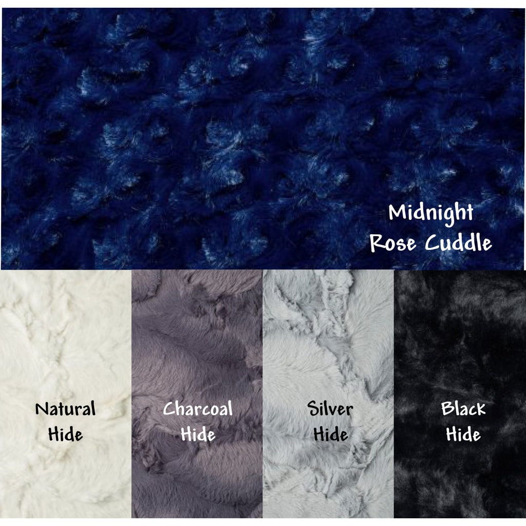 Minky Weighted Blanket 15-28 LBS Full Midnight Blue