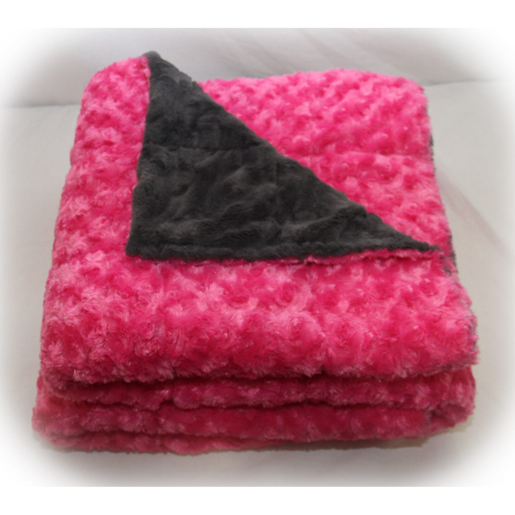 Minky Weighted Blanket 15-35 LBS King Hot Pink