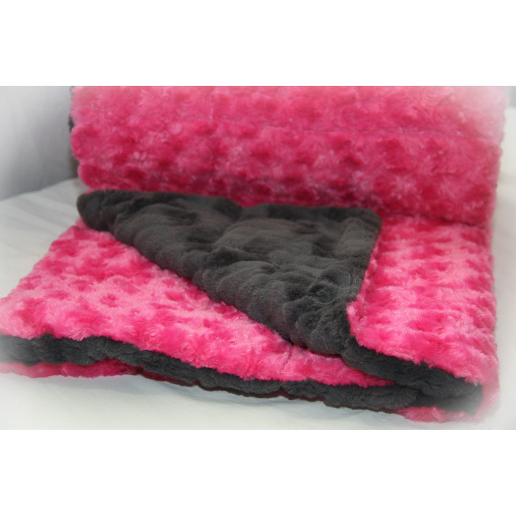 Minky Weighted Blanket 15-35 LBS Queen Hot Pink
