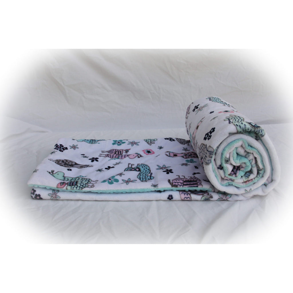 Minky Weighted Blanket 2-6 LBS X-Small Youth No Prob Llama