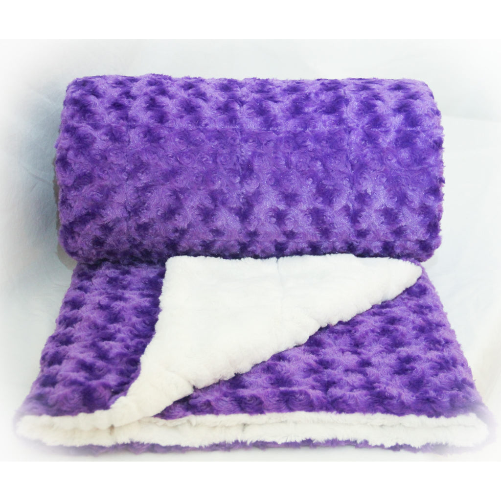 Minky Weighted Blanket 8-25 LBS Twin Purple