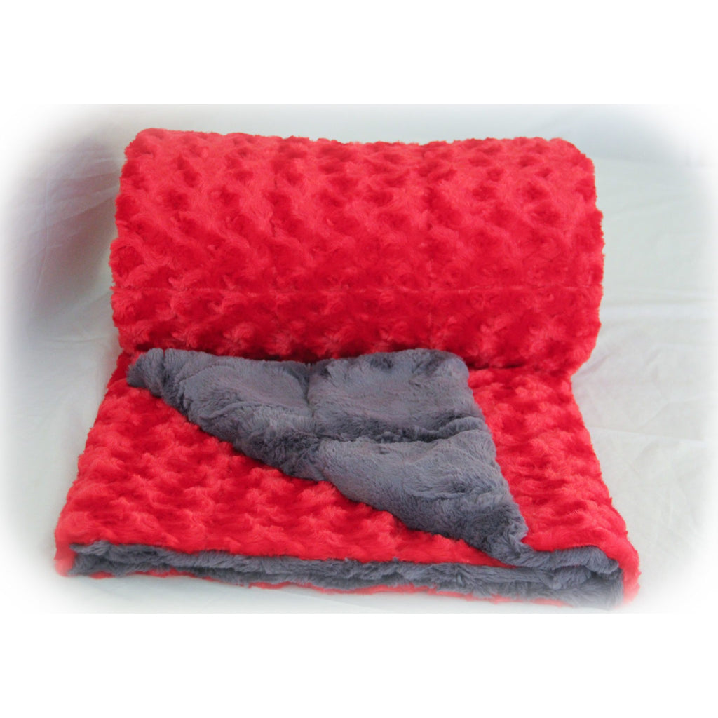 Minky Weighted Blanket 7-13 LBS Medium Youth Red
