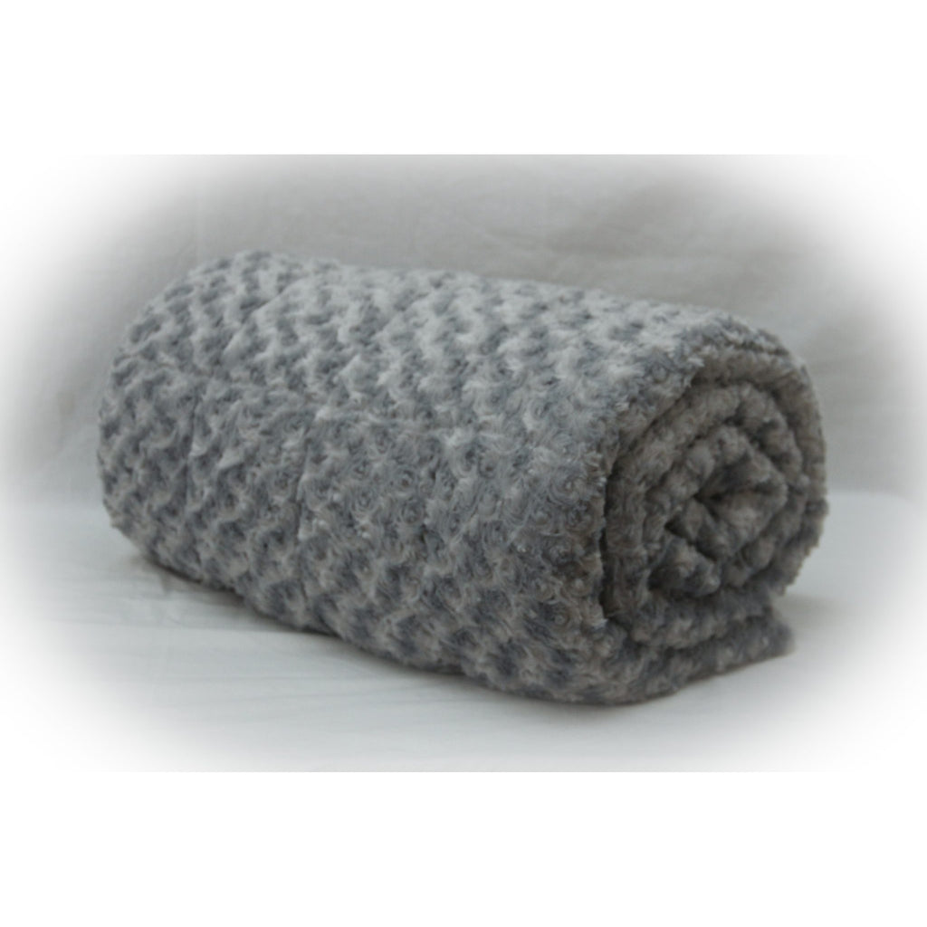 Minky Weighted Blanket 5-12 LBS Travel Size Silver