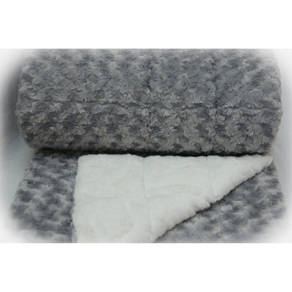 Minky Weighted Blanket 15-35 LBS Queen Silver