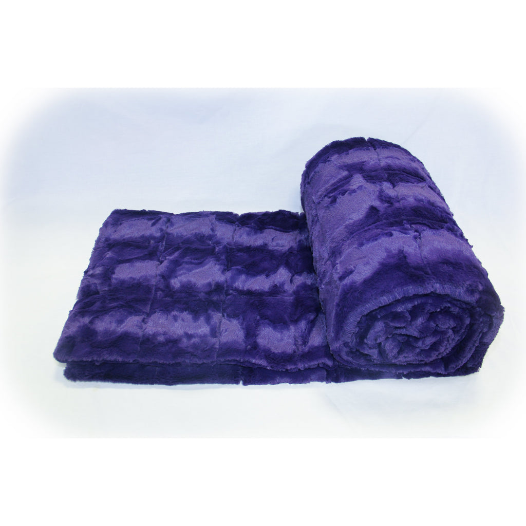 Minky Weighted Blanket 15-25 LBS XL Twin Deep Purple
