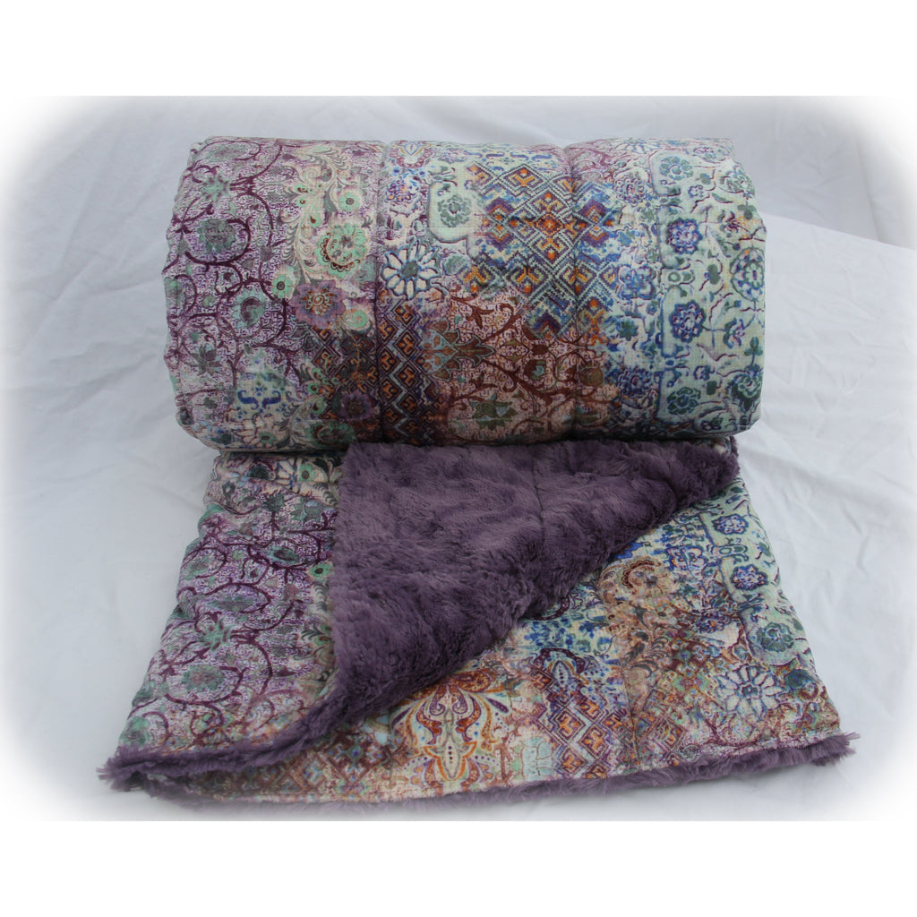 Minky Weighted Blanket 2-6 LBS X-Small Youth Mystik Plum