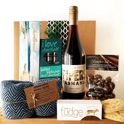 Tassie Merino Heat Pack Hamper - Optional Wine