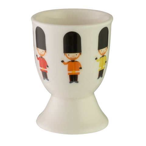 Stoneware Egg Cup ~ Toy Soldiers
