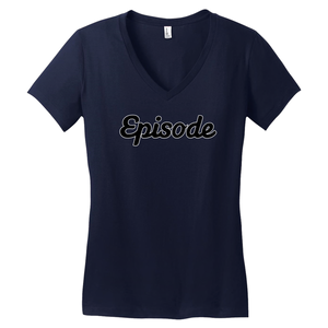 Episode Black & White Logo V-Neck Tee